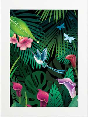 Tropical Jungle (Flowers) by Art Now Collection