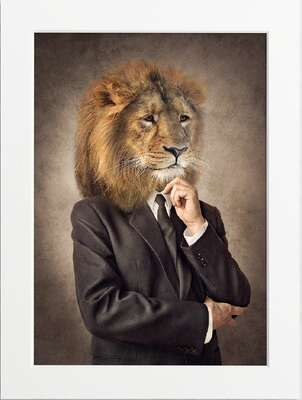 Well Dressed Lion by Art Now Collection