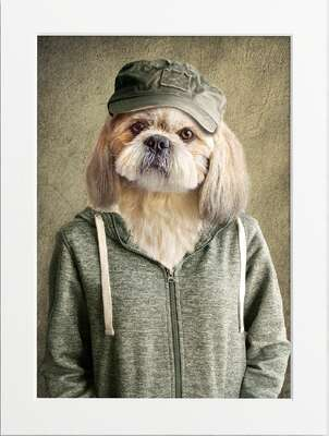 Well Dressed Dog by Art Now Collection