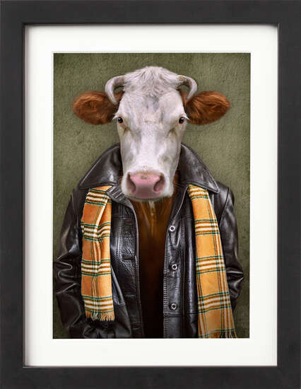 Well Dressed Cow by Art Now Collection