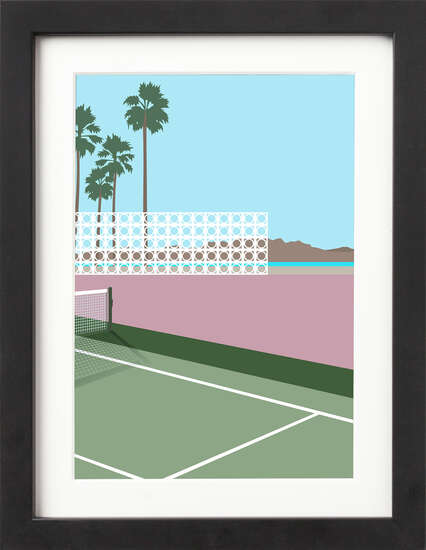 Block House Tennis Court by Art Now Collection