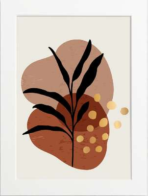 Boho Foliage – Brick Red by Art Now Collection