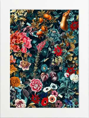 Flower Pattern, Azure by Art Now Collection