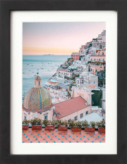 Positano at Sunset by Art Now Collection