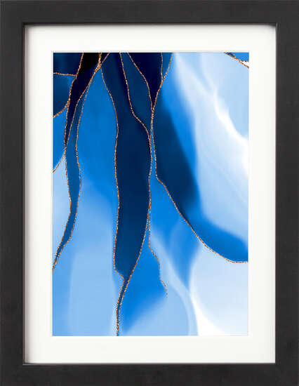 Blue Watercolor Petals I by Art Now Collection