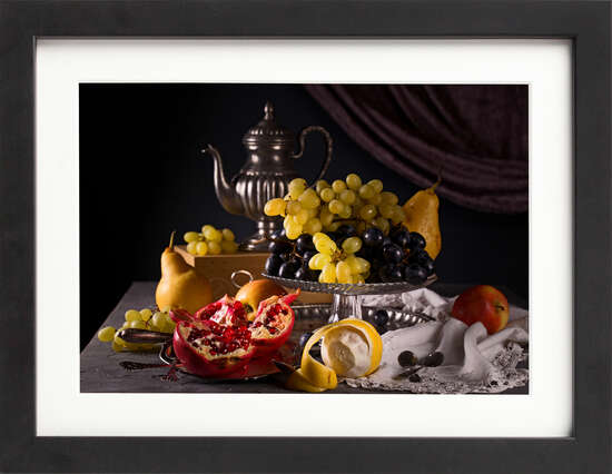Grapes and Pears Still Life by Art Now Collection