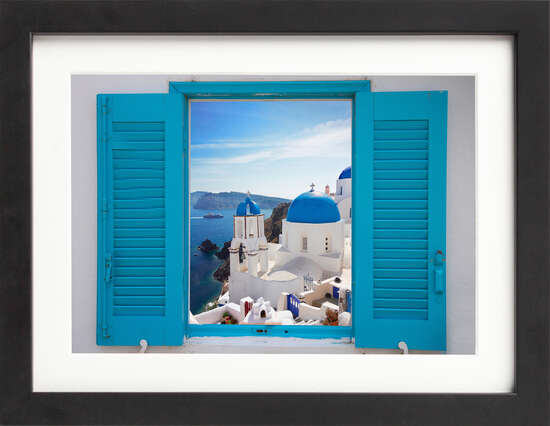 Window to Santorini by Art Now Collection