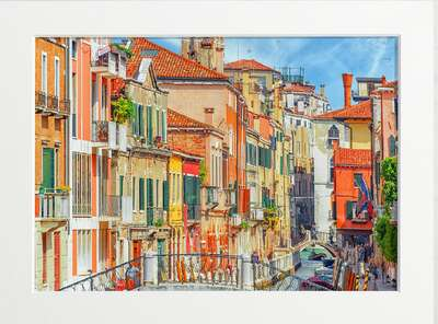 Venice Canal Buildings by Art Now Collection