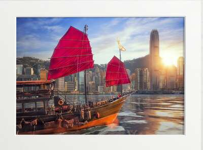 Hong Kong Harbour Sailing Ship by Art Now Collection