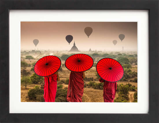 Buddhists in Bagan by Art Now Collection