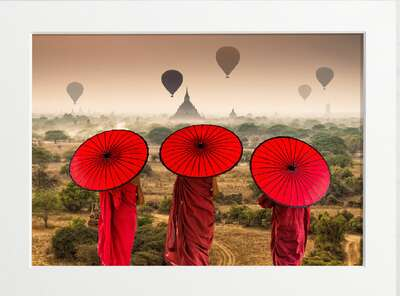 Portrait Painting  Buddhists in Bagan by Art Now Collection