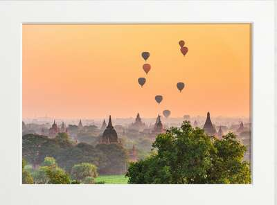 Myanmar Temple Air Balloons by Art Now Collection