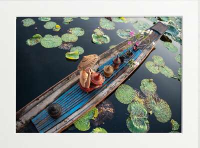 figurative art:  Burmese Intha Woman on Inle Lake by Art Now Collection
