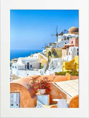 Greek Houses of Oia by Art Now Collection