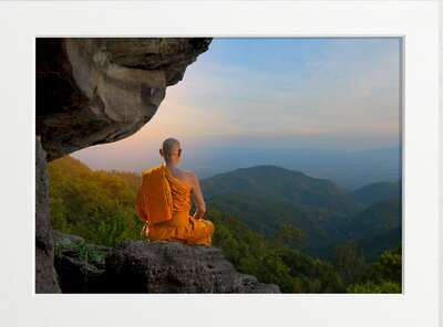 figurative art:  Meditative Monk by Art Now Collection