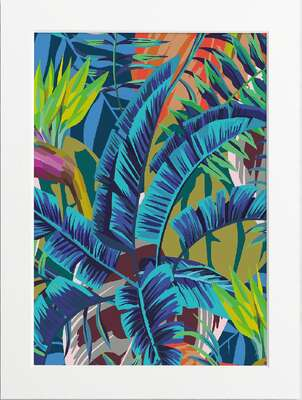Blue Banana Leaves by Art Now Collection
