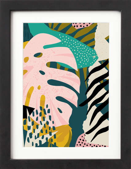 Abstract Leaves by Art Now Collection