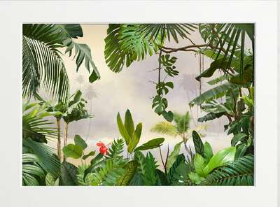 View through tropical greenery by Art Now Collection