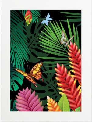 Tropical Jungle (Butterflies) by Art Now Collection