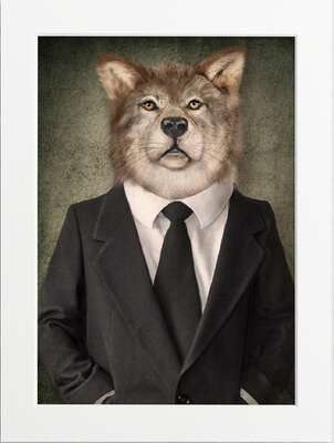 Well Dressed Wolf by Art Now Collection