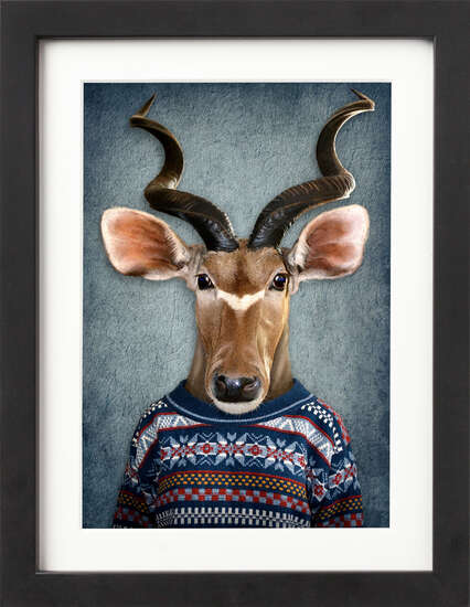 Well Dressed Antelope by Art Now Collection