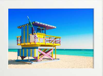 Miami Lifeguard Tower by Art Now Collection