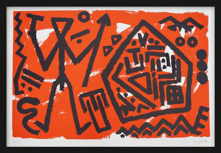 Pentagon rot by A.r. Penck