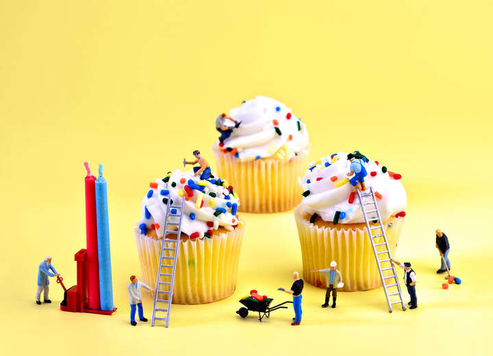 Cupcake Construction by Cathy Scola