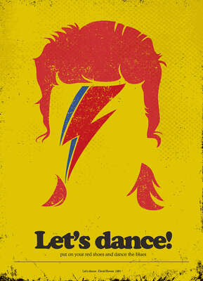 David Bowie Art: Let's dance by Rafael Barletta