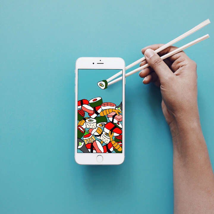 The Most Mobile Sushi yet von Anshuman Ghosh