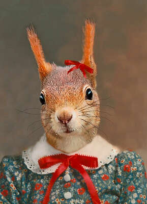 Stephanie the Squirrel von Angela Rossi