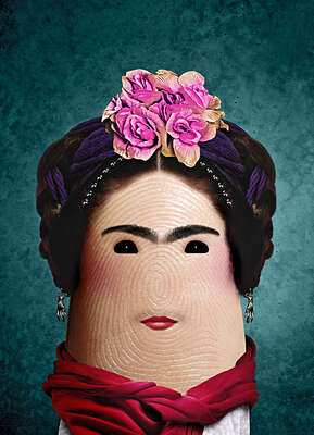 Wall Art: Frida Kahlo by Dito Von Tease