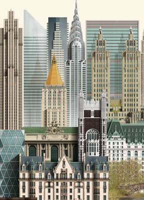 curated acrylic art: New York by Martin Schwartz
