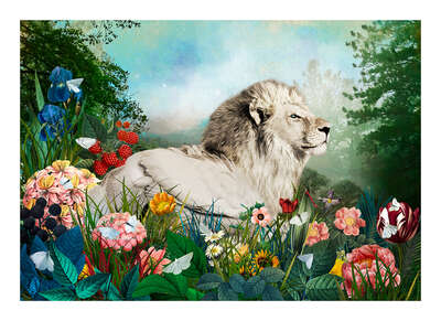 wall art wildlife prints animals  Pundlehund Cygnus Leo Paradeisos by Andre Sanchez