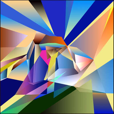 abstract photography:  Kaleidoscopic View I by Anton Sparx