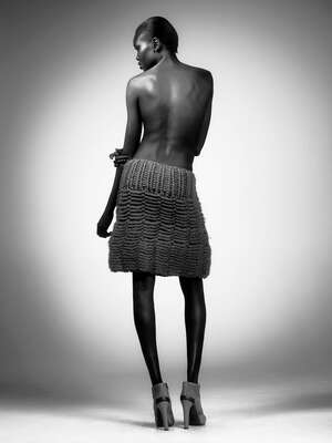 curated black and white art: Alek Wek by Warwick Saint