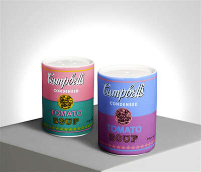 Curated pastel artworks: CAMPBELL - Salt&Pepper Shaker by Andy Warhol