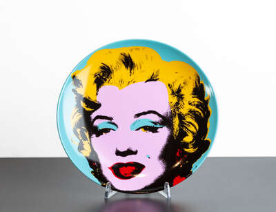 curated pop art: Marilyn Bleue by Andy Warhol