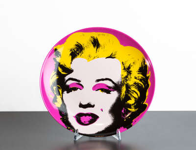 curated Pop Art artwork: Marilyn Rose by Andy Warhol