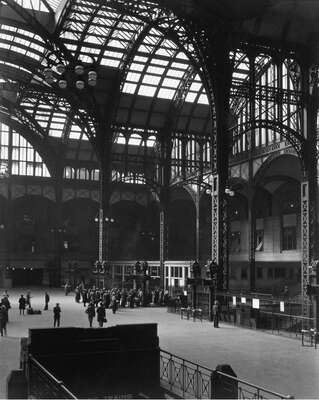 curated black and white art: Penn Station, Manhattan by Berenice Abbott