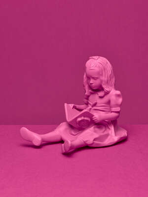 Girl & the Book Pink von Bloop Art