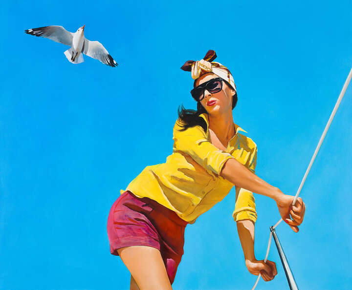 Girl with a Seagull by Boglárka Nagy