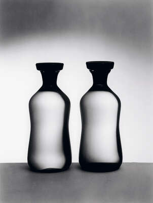 "Fine Black and White Art Photography: ""Apothekerflaschen"" by Willi Moegle"