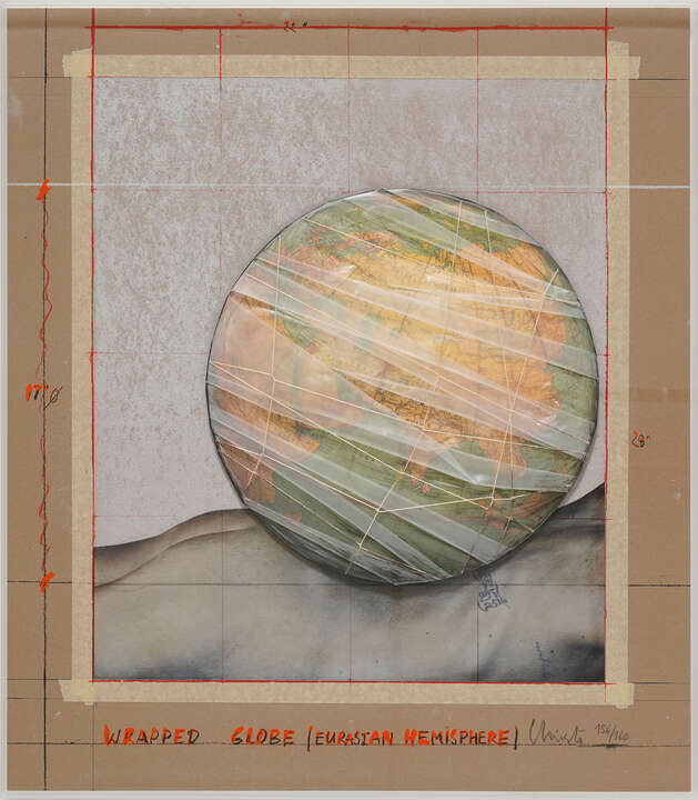 Wrapped Globe by Christo