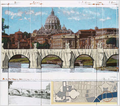 LUMAS fine art prints: Ponte Sant'Angelo by Christo