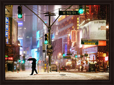 winter art: Times Square Snow Show by Christophe Jacrot
