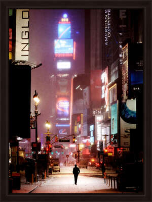 Wall Art: Man on Broadway by Christophe Jacrot