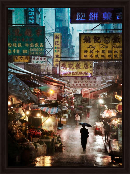 Market in the Rain von Christophe Jacrot