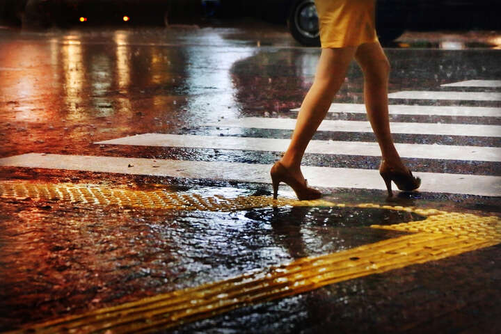 Legs on zebra by Christophe Jacrot