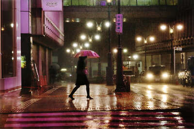 Purple in the rain von Christophe Jacrot